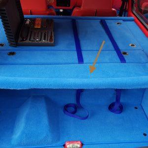 Renault 5 Turbo R5T R5 R5T1 R5T2 support plage arrière hayon polyester moquette bleu