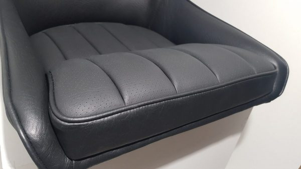 MJ Matra Djet perforated black leather bucket seat