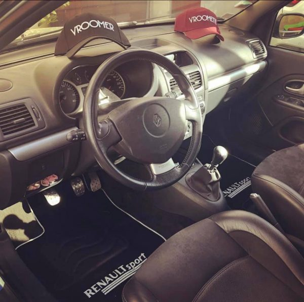 Renault sport Clio Mégane megane RS tapis sur-tapis sur noir selliers du domaine