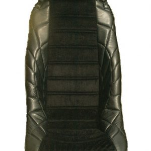 Siège baquet IGCL integral grand confort long appui tête tete bombé bombe noir