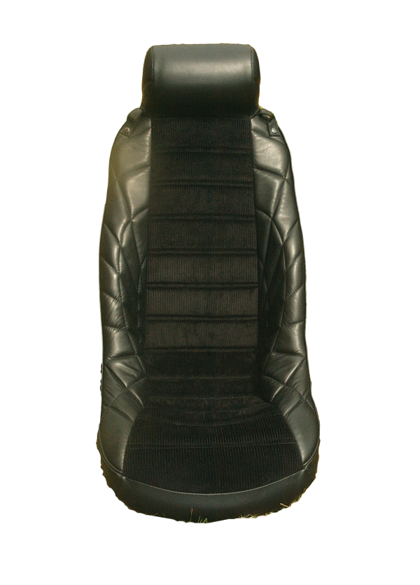 Siège baquet IGCL integral grand confort long appui tête tete bombé bombe noir simili velours