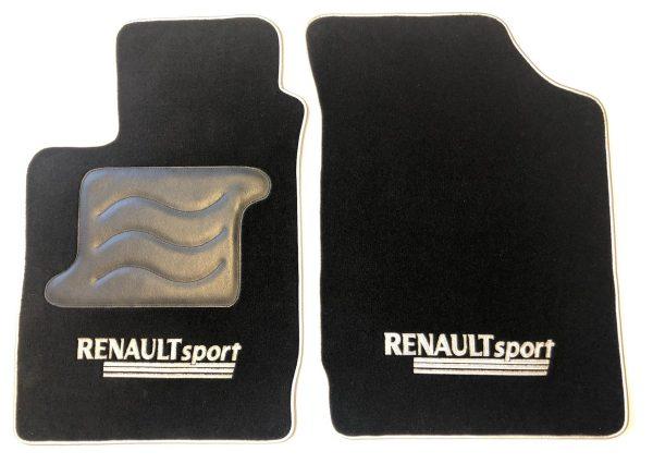 Renault sport Clio 2RS 2 RS tapis sur-tapis sur noir selliers du domaine