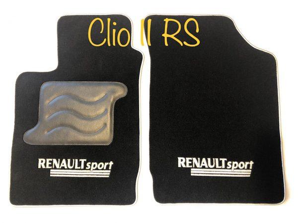 Renault Clio 2RS RS 2 tapis sur-tapis sur noir selliers du domaine