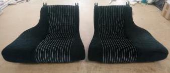 Renault Alpine Berlinette A310 V6GT black fabric rear seat trim