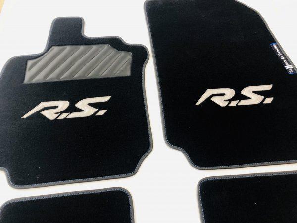 Renault Clio 3RS RS 3 tapis sur-tapis sur tapis selliers du domaine noir