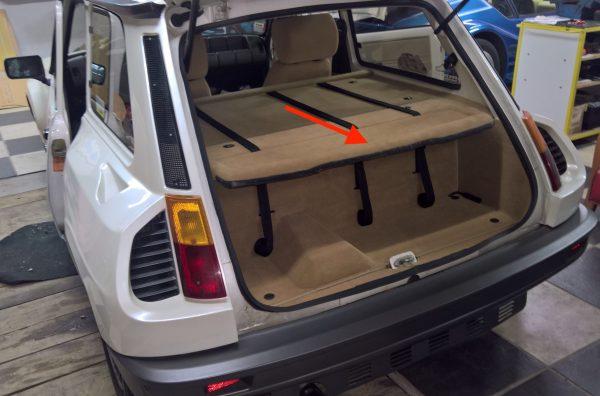 Renault 5 Turbo R5T R5 R5T1 R5T2 plage arrière amovible polyester beige