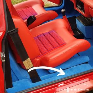 Renault 5 Turbo R5T R5 R5T2 supports de bas de caisse en polyester moquette bleue bleu