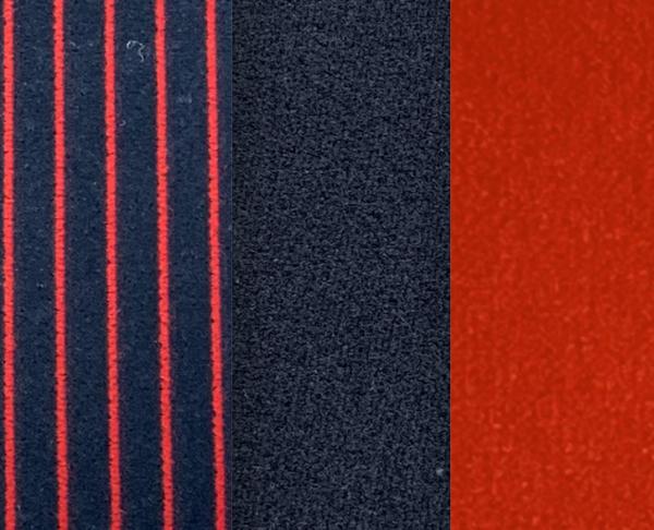 Renault Alpine Turbo red striped grey velvet seat