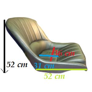 MJ Matra Djet leather black-sized seat