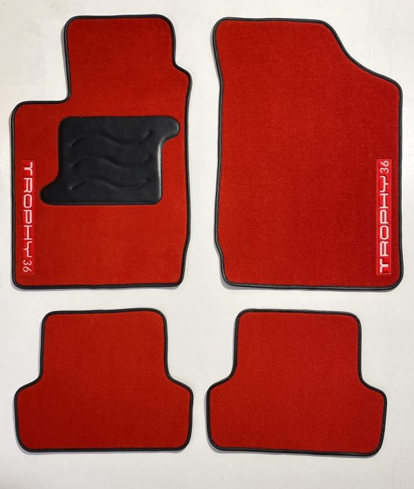 Renault Clio 2RS RS 2 carpet carpet on black saddlers of the red trophy domain