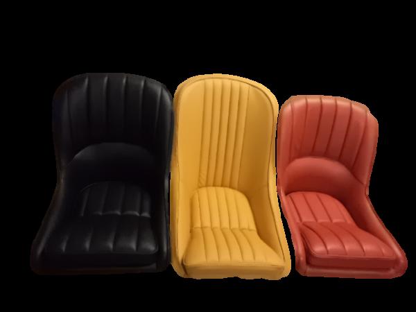 MJ Matra Djet black yellow leather bucket seat