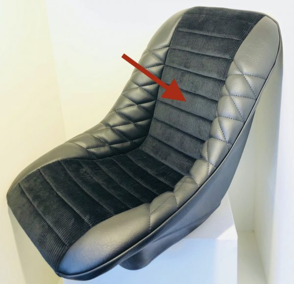 Renault Turbo R5T Alpine black velvet large ribs seat seat bucket