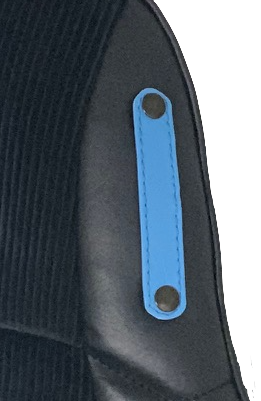 Pair of harness attachment legs seat bucket Renault Turbo Alpine Simca blue