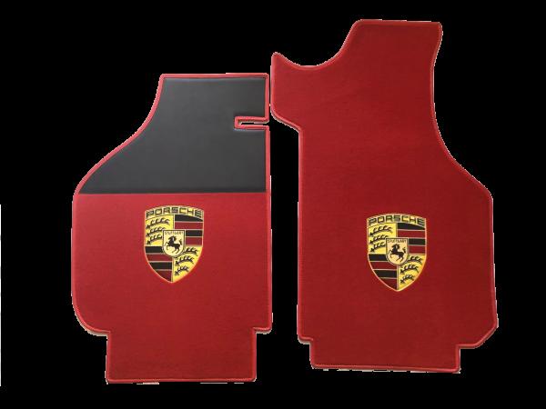 Sur tapis Porsche avec écusson moquette sur-tapis rouge noir