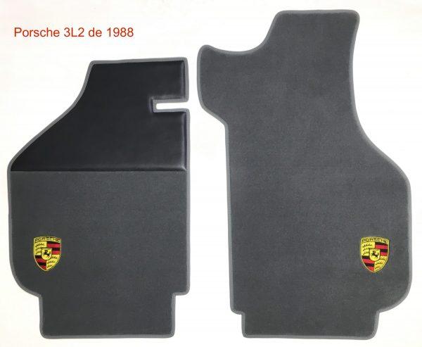 Porsche écusson sur-tapis sur tapis 3L2 1988 gris anthracite