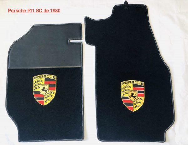 Porsche 911 SC 1980 écusson sur-tapis sur tapis noir