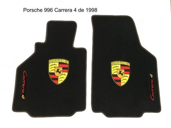 Porsche 996 Carrera 4 1998 écusson sur-tapis sur tapis noir