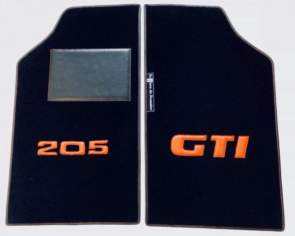 Renault 205 GTi GTI gti sur-tapis sur tapis avant paire 205gti noir rouge