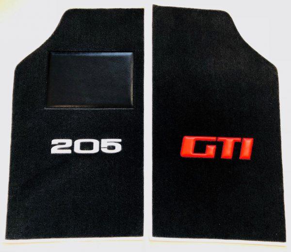 Renault 205 GTi GTI gti sur-tapis sur tapis avant paire 205gti noir argent rouge