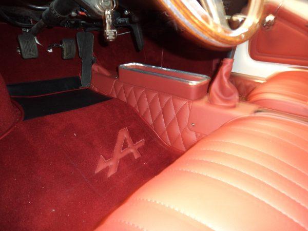 Gaine de levier de vitesse simili Alpine Renault rouge