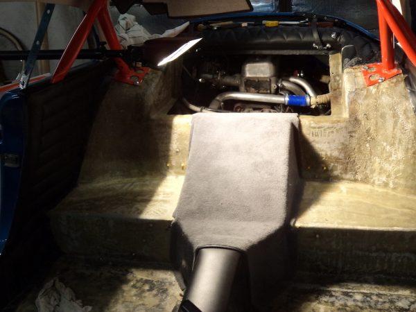 Renault Alpine Berlinette black tunnel rear extender, Renault tunnel rear
