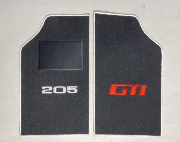 Renault 205 GTi GTI gti on carpet on red grey carpet anthracite silver