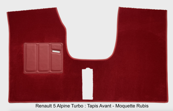 Renault 5 Alpine Turbo Carpet Front Ruby Red Carpet