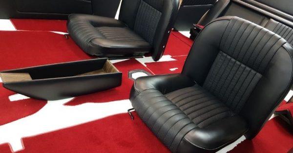 Siège siege Simca 1200's noir rouge