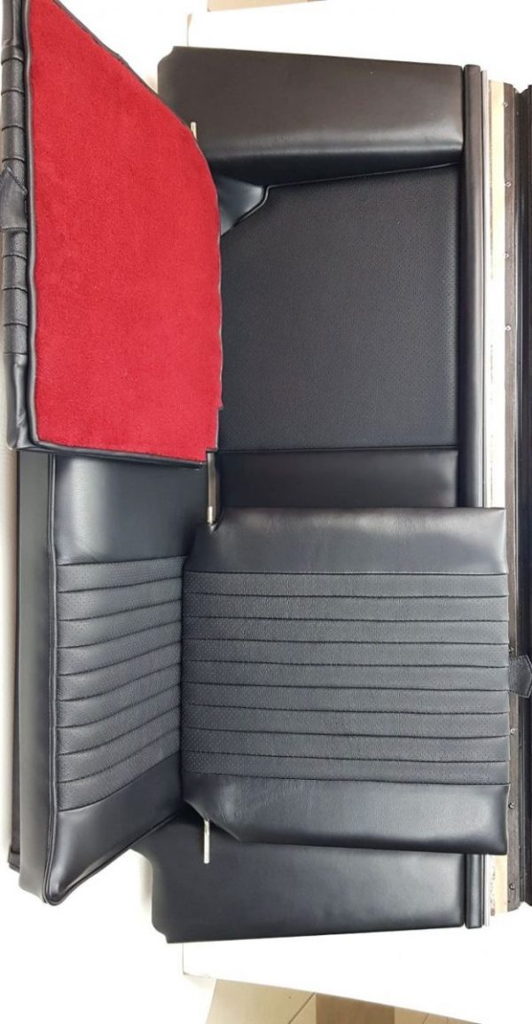 Seat Simca 1200's black red