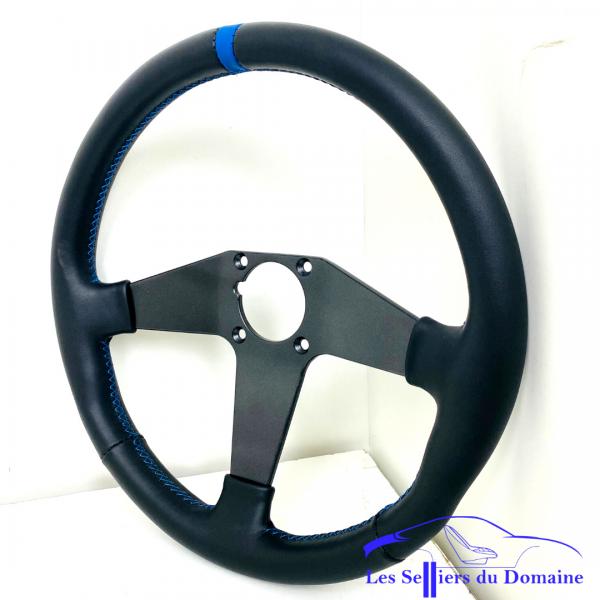 Garnissage du volant V6GT GTA avec bague repaire bleu et fil bleu