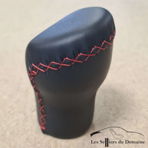 Re-trimming the leather V6GT- GTA pommel with red stitch