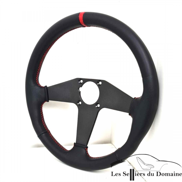 Trim the V6GT GTA steering wheel with a marker ring and sewn with red thread. The center was yes and painted with anthracite origne paint