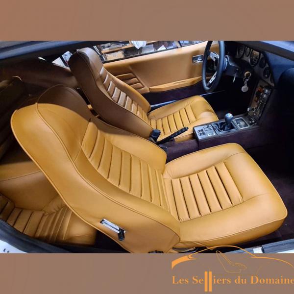 Housse de siège Avant Alpine A310 4cylindres en cuir beige